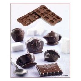 Silikomart Silikonová forma na čokoládu Tea Time