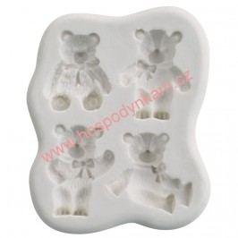 Silikonová forma na marcipán - medvídci