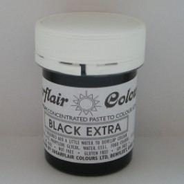 Gelová barva Sugarflair - Black extra