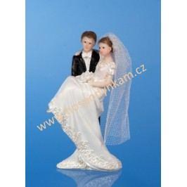 Figurka na dort - nevěsta a ženich 11cm