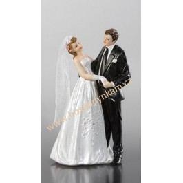 Figurka na dort - nevěsta a ženich v objetí