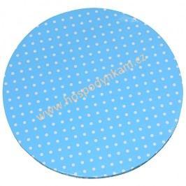 Kartonový tác modrý kruh 30cm