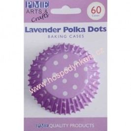 Cukrářské košíčky na pečení PME fialové s puntíky