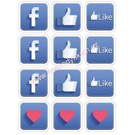 Jedlý papír Facebook
