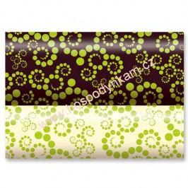 Transfer fólie na čokoládu - zelené tečky