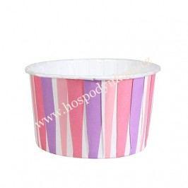 Košíčky na muffiny pevné Růžové pruhy