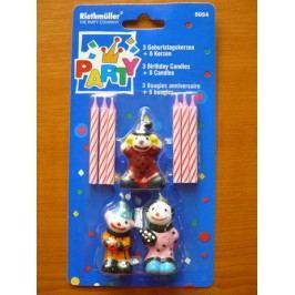Dortové svíčky klauni