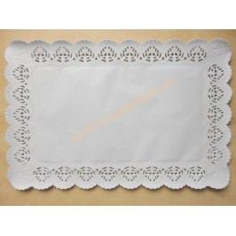 Papírová krajka pod dort obdélník 36x46cm