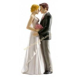 Figurka na dort - nevěsta a ženich romantika
