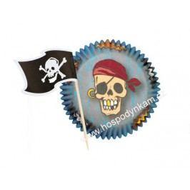 Košíčky na pečení Wilton Pirát+vlaječky