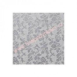 Stříbrný tác Modecor, čtverec 30x30cm