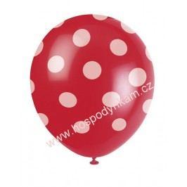 Balónky červené s bílými puntíky