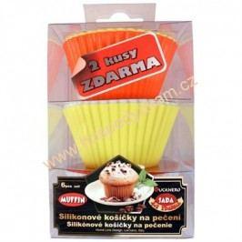 Silikonové košíčky na muffiny 6ks, silikonové košíčky na cupcake