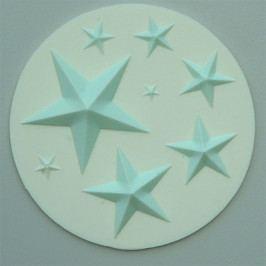 Silikonová forma na marcipán - hvězdy