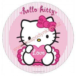 Jedlý papír Hello Kitty se srdíčkem