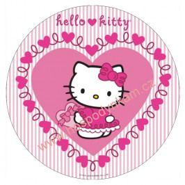 Jedlý papír Hello Kitty v srdíčku