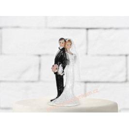 Figurka na dort - nevěsta a ženich propleteni
