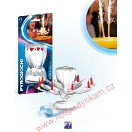Dortová svíčka hrající fontána - bílý květ