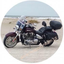 Jedlý papír motorka na pláži