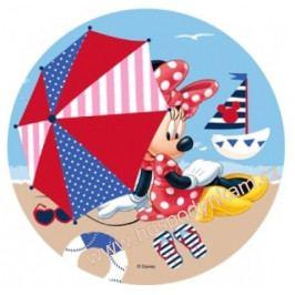 Jedlý papír Mickey a Minnie na pláži 1