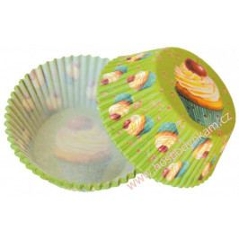 Cukrářské košíčky zelené s muffiny