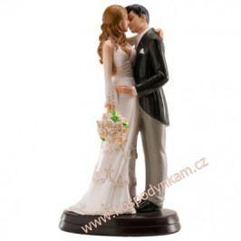 Figurka na dort - ženich a nevěsta polibek
