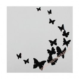 Cake Star Stencil motýli