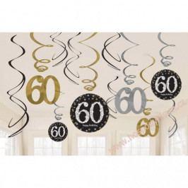 Spirálová dekorace 60. narozeniny