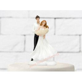 Figurka na dort - nevěsta a ženich s miminkem