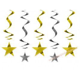 Spirálová dekorace hvězdy