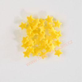 Cukrové zdobení - hvězdičky žluté 30g