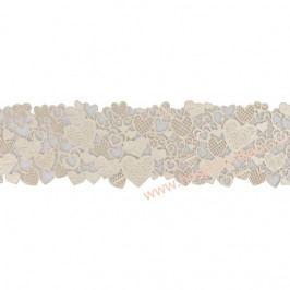 Jedlá dekorace - srdcová krajka 7x38cm