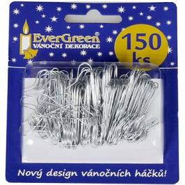 EverGreen Háček na ozdoby cca 150 ks, stříbrná