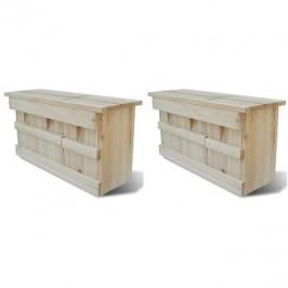 Ptačí budka pro špačky 2 ks 44×15,5×21,5 cm dřevo 276008