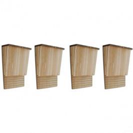 Budka pro netopýry 4 ks 22×12×34 cm dřevěná 276009