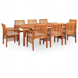 9dílný zahradní jídelní set s poduškami masivní akáciové dřevo 278900 278900
