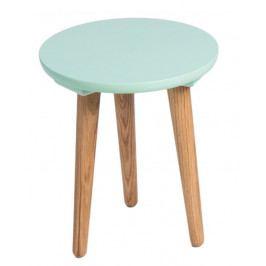 Odkládací stolek Bergan malý se zelenou deskou