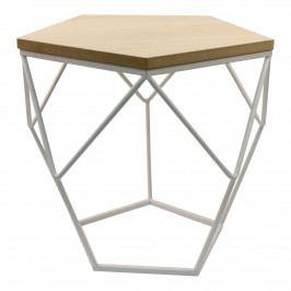 Odkládací stolek Hexxi bílý