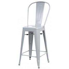 Barová židle s opěradlem Paris Back šedá