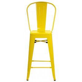 Barová židle s opěradlem Paris Back žlutá