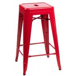 Barová stolička Paris 75cm červená
