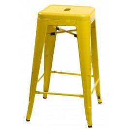 Barová stolička Paris 75cm žlutá