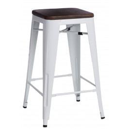 Barová židle Paris Wood 75cm bílá borovice