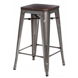 Barová židle Paris Wood 75cm metalická borovice