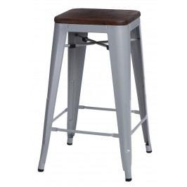 Barová židle Paris Wood 75cm šedá borovice