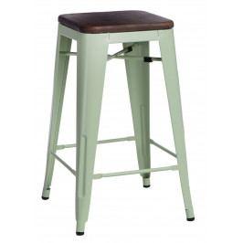 Barová židle Paris Wood 75cm zelená borovice