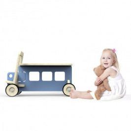 Dřevěné odrážedlo Planeco Auto Benek modré