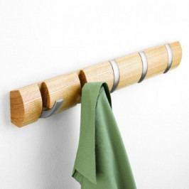 UMBRA FLIP 5 háčků v jednom dřevo