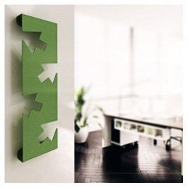AB Nástěnný kovový věšák Rekto zelený