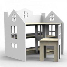 Dřevěný stolek se stoličkou Planeco PRINCESS šedý